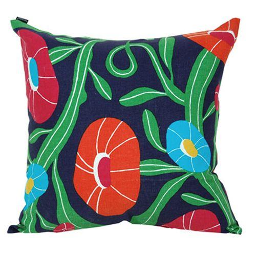 Marimekko Purple Lomapäivä Throw Pillow