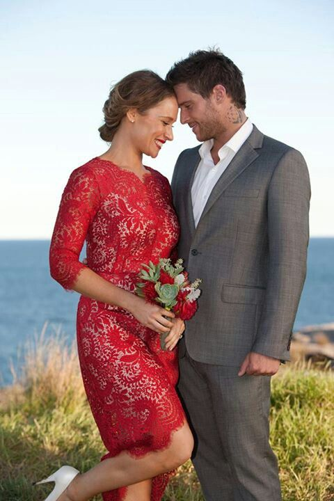 Home and Away Heath and Bianca #romanticwedding