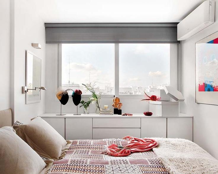Gray blinds - bedroom @Johanna Sutherland