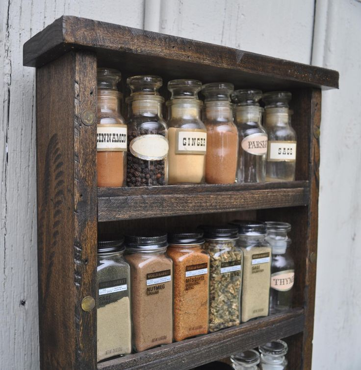 Primitive Distressed Style Spice Rack by TheGreenCoyote on Etsy