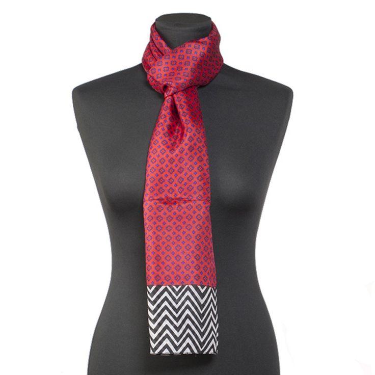 Lundorf Wilamina scarf 100 % pure silk (16 gram) 50x180 cm - Lundorf handsker