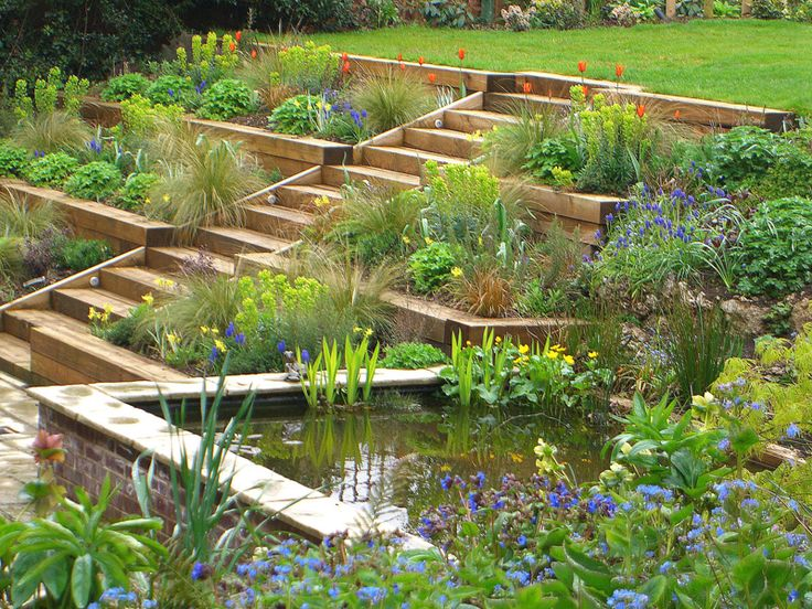 this terraced garden designed by julian tatlock garden design made use of natural slopes to create a beautiful set of terraced - Garden Design Terraced House