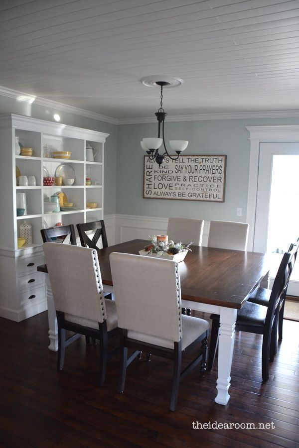 Perfect For My Dining Room Paint Color Benjamin Moores Quiet Moments Which Is A Nice Soft Blue With Gray Undertones