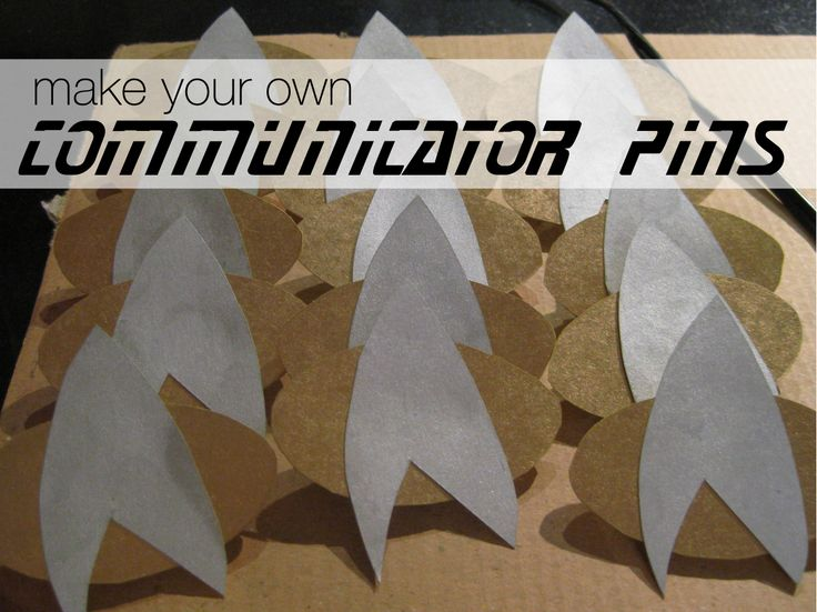 DIY: Star Trek communicator pins. This was a really fun project to do.