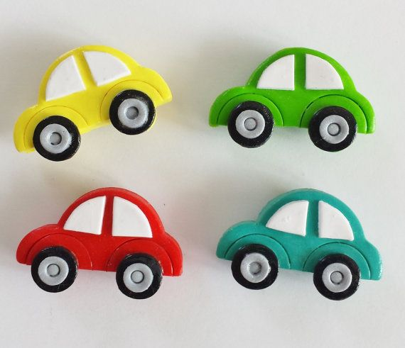 Magnets Beep Beep Cars Handmade Polymer Clay VW by digitsdesigns