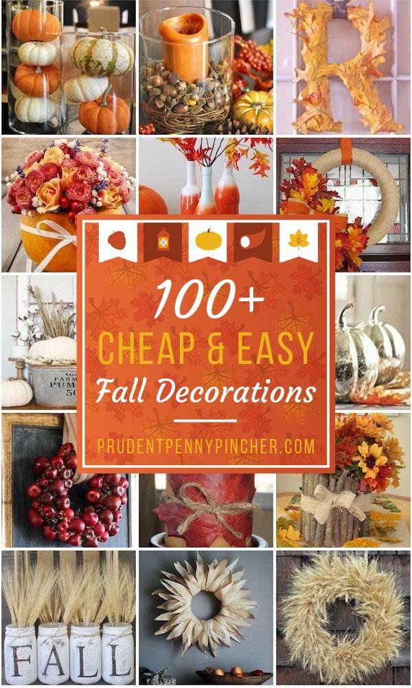 100 Cheap And Easy Fall Decor Diy Ideas Easy Fall Crafts