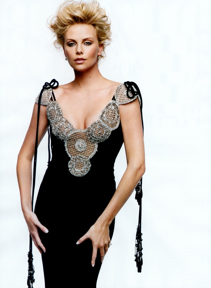 Charlize Theron Probably my favorite pick. Drop dead gorgeous. If I could recreate this look for myself, I would.