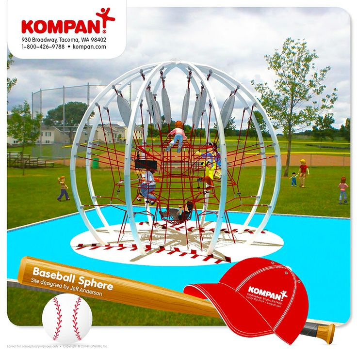 Awesome baseball concept using the Corocord Action Sphere climbing structure! www.kompan.com www.corocord.com