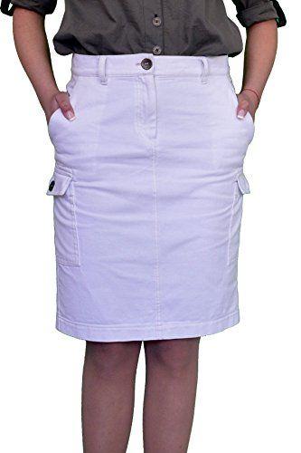 cfb3e0c0fe Souvenir-Fashion New Ladies Casual Boutique Knee Length Pencil White Denim  Skirt UK 8 10 12 14 16 18 20 22 (14)