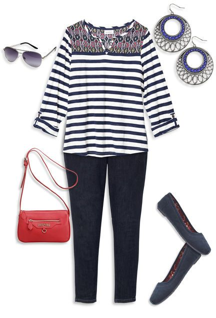 Mix Well Denim Outfit avenue.com