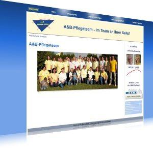 Die Internetpräsenz des A&B-Pflegeteams.  Eine Webseite gestaltet in den Farben des Logos des A&B-Pflegeteams, Zahlreiche Unterseiten und ein Kontaktformular waren der Wunsch des A&B-Pflegeteams in Langenneufnach.   Technik: Modernes CMS, PHP, MySQL-Datenbank, HTML, CSS   Veröffentlichung: Oktober 2015