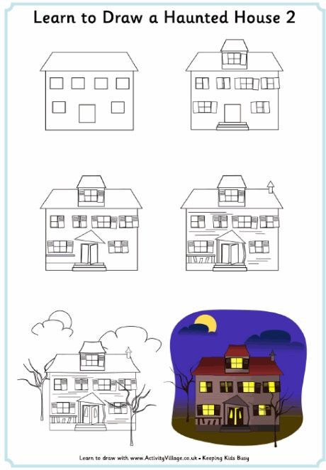 19 best best drawing images on pinterest best drawing Haunted house drawing ideas
