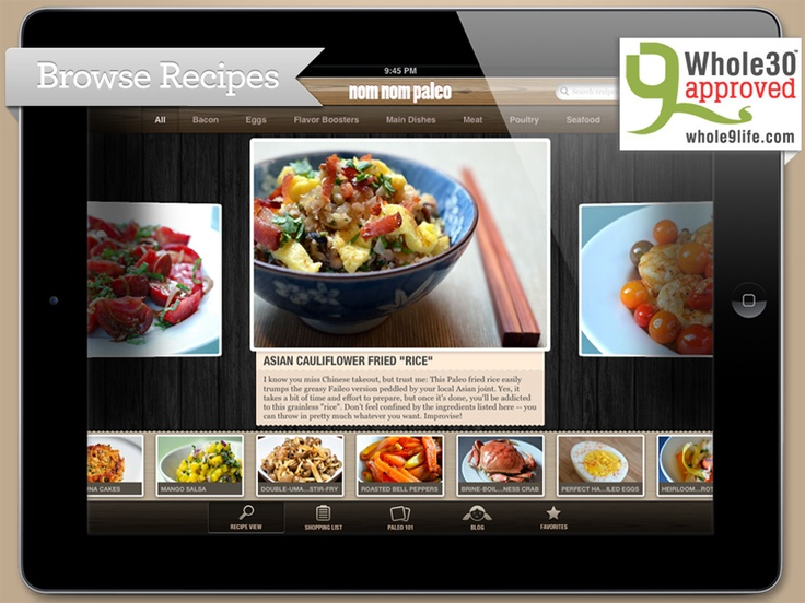 Nom Nom Paleo's iPad Cooking AppApp, Nom Paleo, Paleo Resources, Ipad, Nomnom, Healthy Recipe, Paleo Diet, Nom Nom, Paleo Recipes