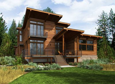 Plan 23673JD: 4 Bed Modern House Plan with Dramatic Vaulted Interior Spaces