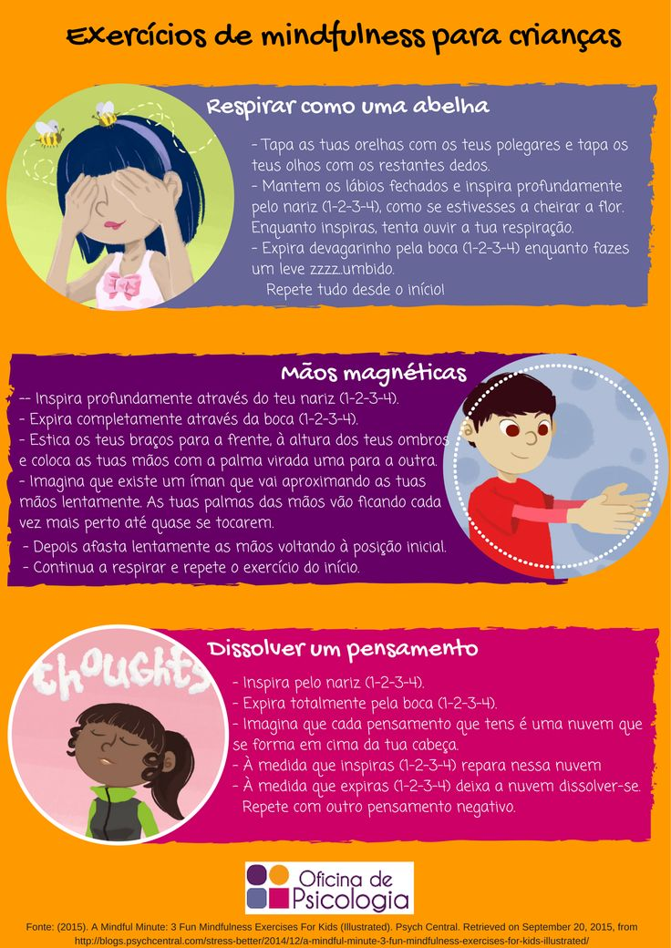 Os exercícios Mindfulness para crianças