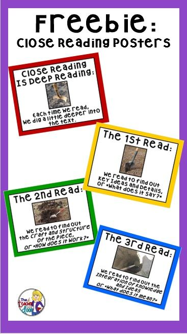 Freebie for Close Reading. Great tool to use as a reference!