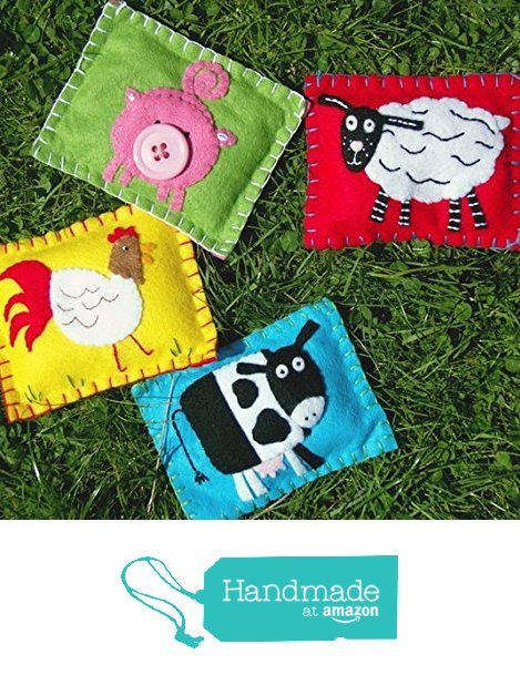 Farm Animal Bean Bags / Rice Bags from With Hugs and Kisses https://www.amazon.co.uk/dp/B01M0HDJKZ/ref=hnd_sw_r_pi_dp_w39yybBA4X8XP #handmadeatamazon