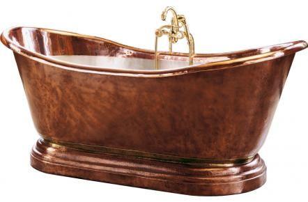 Badkar no17 F&B Classic Exklusivt kopparbadkar som handknackas med ekhammare.