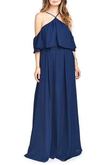 Free shipping and returns on Show Me Your Mumu Rebecca Off the Shoulder Chiffon Gown at Nordstrom.com. The open-back halter bodice of a bohemian chiffon maxi drifts to an off-the-shoulder popover, in a sweeping silhouette that flatters a multitude of figures.