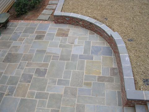bluestone patio patterns | pattern bluestone - overhead view