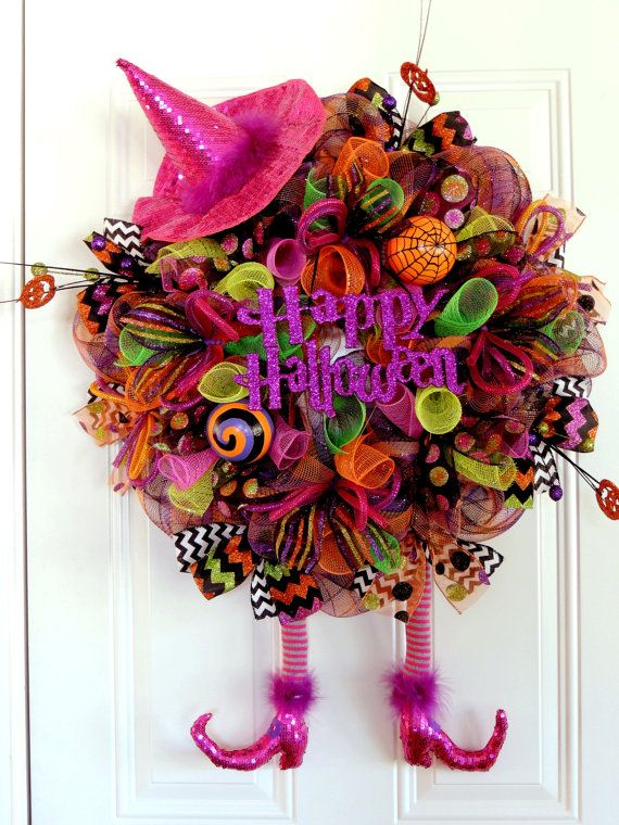 Halloween Witch Wreath Wicked Witch Wreath by SparkleWithDesigns