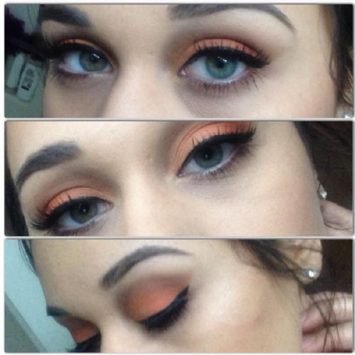 Celebrities With Peach Eyeshadow And Pink