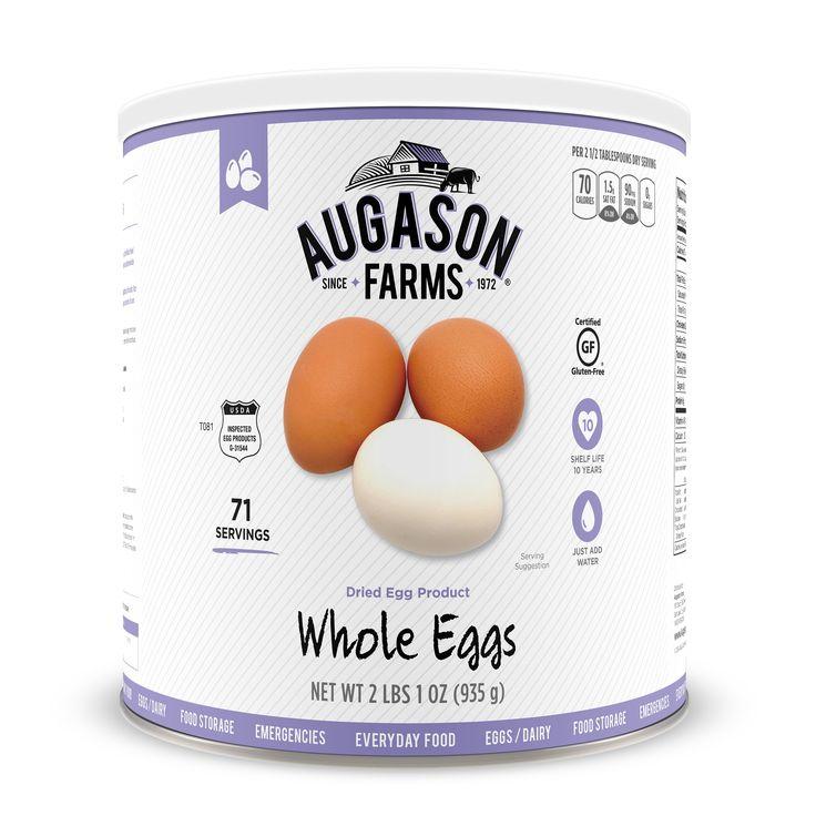 Augason farms dried whole egg powder certified gluten free