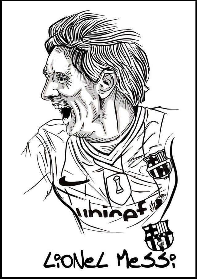 Messi Soccer Football Player Coloring Pictures In 2020 Sports Coloring Pages Messi Soccer Football Coloring Pages
