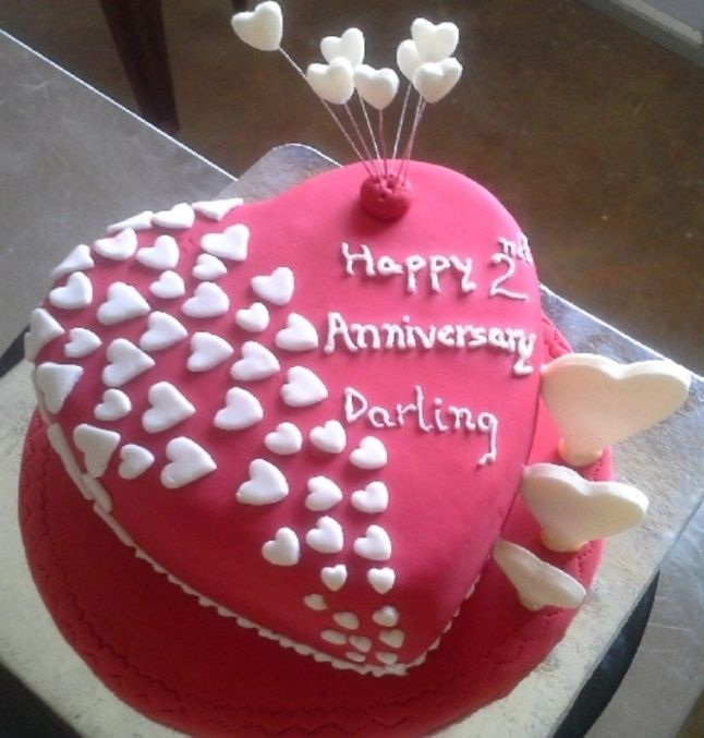 2nd Wedding Anniversary Cake Designs