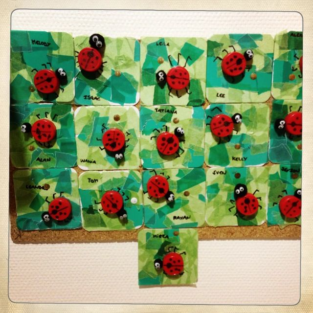 Bottle Caps Ladybugs Craft