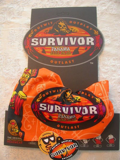 Survivor Panama Orange LaMina Tribe Buff - New on Original Display Card w/Tags