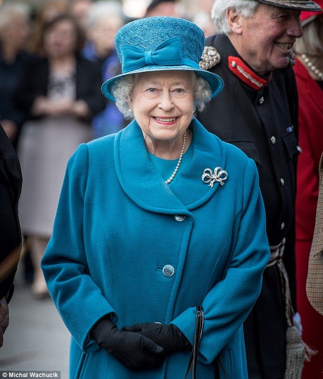 The Queen praised the residents of Ballater for their response to severe flooding last December