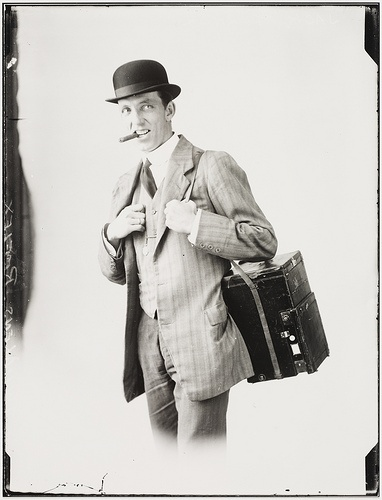 Jack Turner press photographer, c. 1914, by Sam Hood by State Library of New South Wales collection.