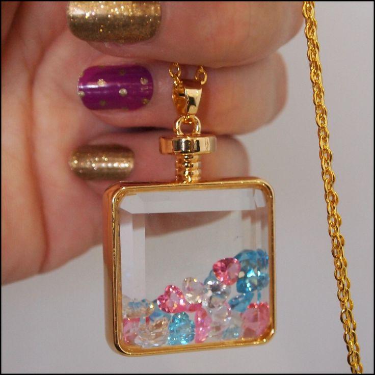 Bottle of Love Glass Pendant