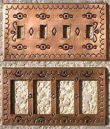 punched tin outlet covers copper - Decorative Outlet Covers
