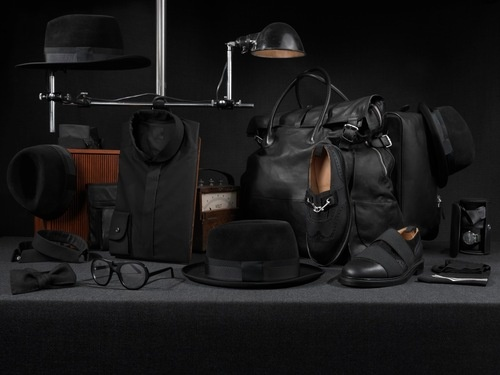 Art Comes First - The project pack essential.     All hats made by ACF & superduper hats.     Glasses by ACF & Lotho eyewear.     Stitch book/journal by ACF & Kalaf Angelo.     Shirt & Tie by ACF & Eton shirts.     Bag by ACF & T-Micheal.     Shoes & socks by ACF.     Picture by Bent René Synnevåg (www.notbent.com)