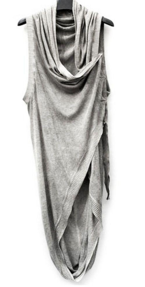 oversize scarf vest