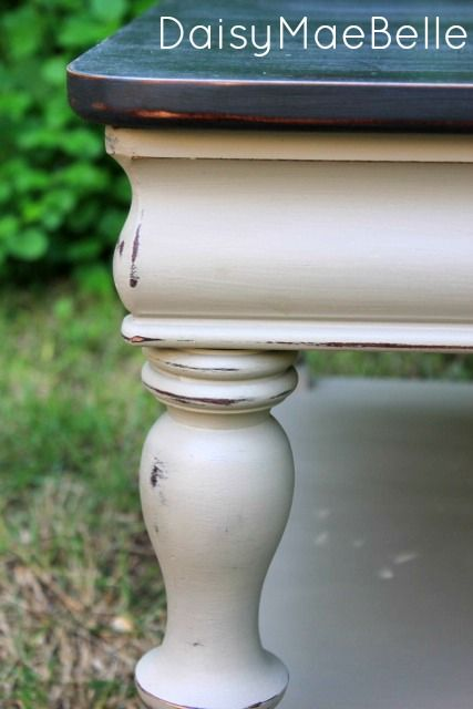 Gray and Taupe Painted Table @ DaisyMaeBelle