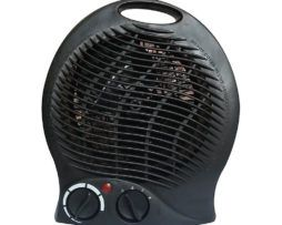 Quiet Portable Space Heater & Fan with Adjustable Thermostat