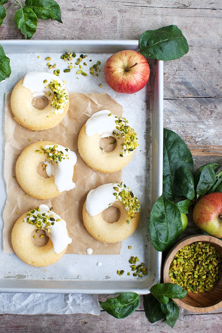 Toertchenzeit Apfel Donuts Pistazie