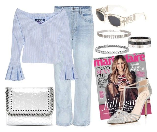 """""""SJP"""" by mary-zacharia on Polyvore featuring Sarah Jessica Parker, Helmut Lang, SJP, Versace, Jacquemus, STELLA McCARTNEY, Blue Nile and Cartier"""