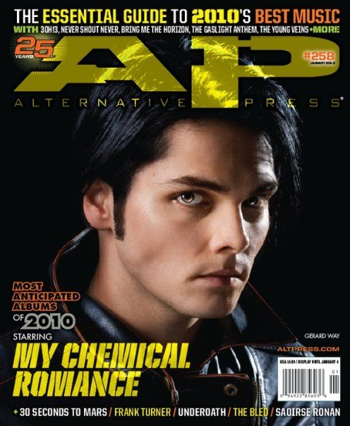 AP 258 // Jan. 2010 // My Chemical Romance (Gerard Way)