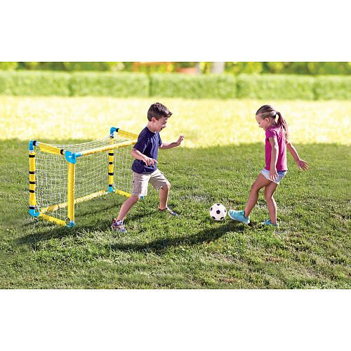 Your future all-star will be able to run circles around the competition in this awesome 3-in-1 athletic set from Stats. Whether they're a future soccer star, tennis pro, or hockey champ, this athletic set can help them train for their championship future. Easy to transform and fun to play, pick up a set for your little one today. They'll be breaking records in no time.<br><br>At the <b>Stats</b> Sports Store for outdoor sporting goods and equipment, great ...