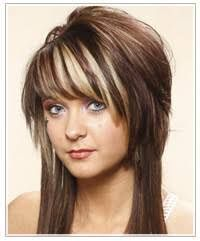long hair with short layers on top - Google Search