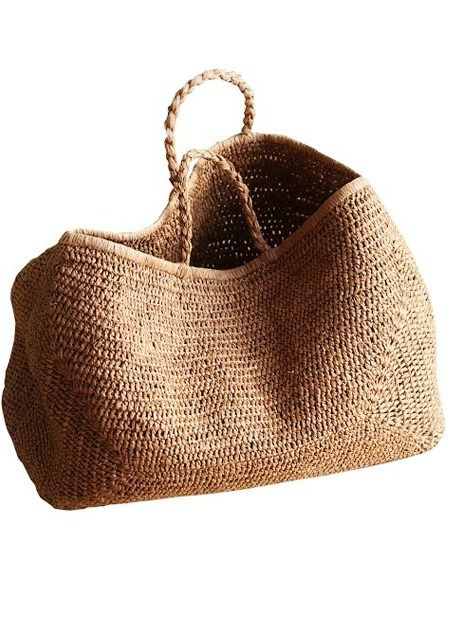 Gorgeous...Bags Provence Basket NORO 50% raffia 50% cotton Color tea