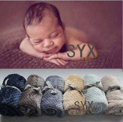 2016 new products(100cmX70cm) Baby Posing Backdrop Super Soft Fur Blanket Newborn photography props   Does not include  ribbon