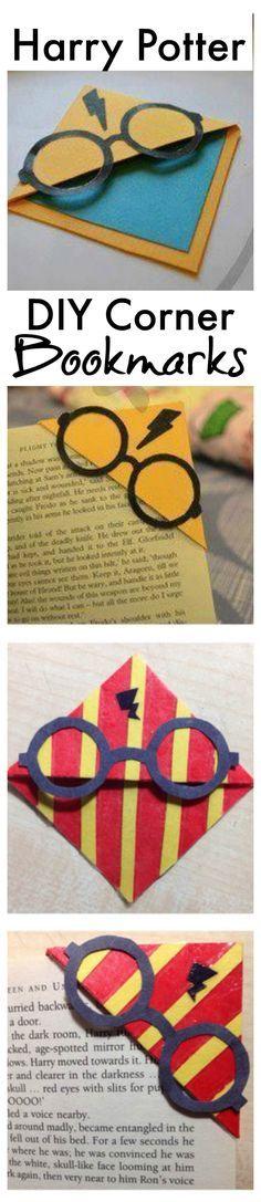 DIY Harry Potter corner bookmarks.
