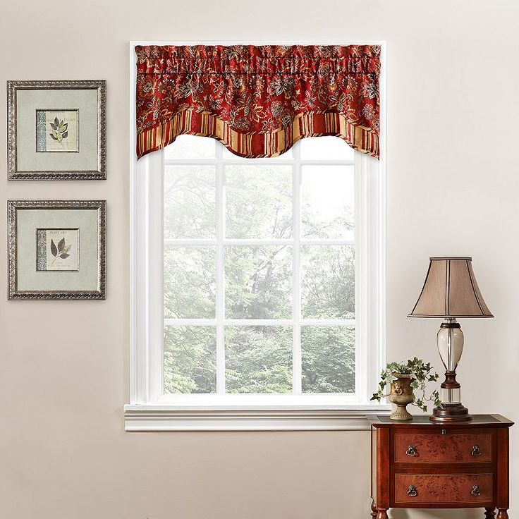 Red Window Curtain Panels Sale: 1000+ Ideas About Waverly Valances On Pinterest