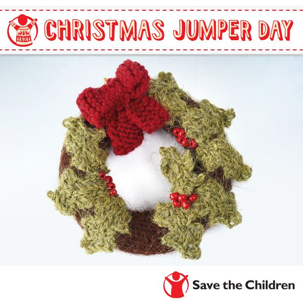 Jazz up your jumper for Save the Children's Christmas Jumper Day with this cute mini holy garland!
