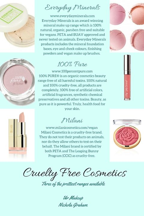 Cruelty Free Makeup anyone? I've put together just 3 of the gorgeous cruelty free makeup ranges available. All 3 offer beautiful colour ranges. Enjoy x #crueltyfreemakeup #100percentpure #milani #everydayminerals #vegan #organic #urmakeup #nicholagraham #mua #makeupartist